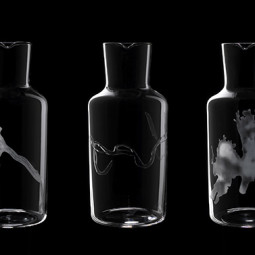 Mark Braun - FORTUNE – Water Carafes Engraved with International Glaciers, Rivers and Lakes